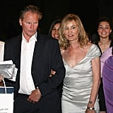 Jessica held onto Sam's arm as they attended the Taormina Art Award in Italy in June 2009.