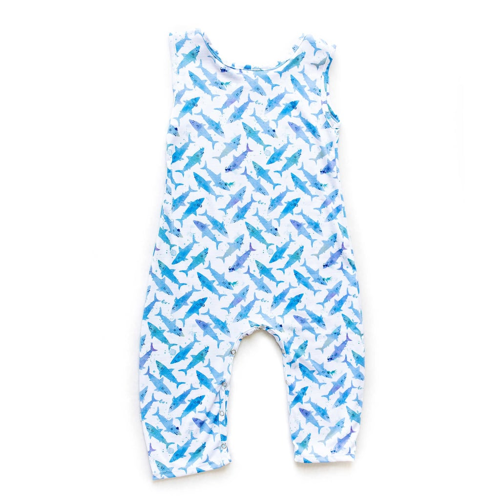 Shark Sleeveless Knit Coverall