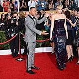 Cuba Gooding Jr. introduced Jennifer on the red carpet.