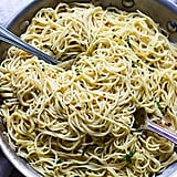Lemon Angel Hair With Garlic White Wine Sauce