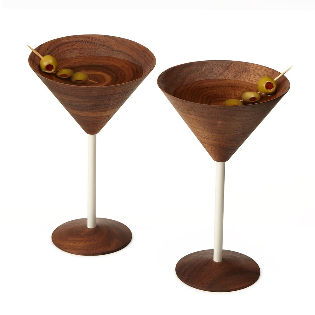 Wooden Martini Glasses ($110 for set of two)