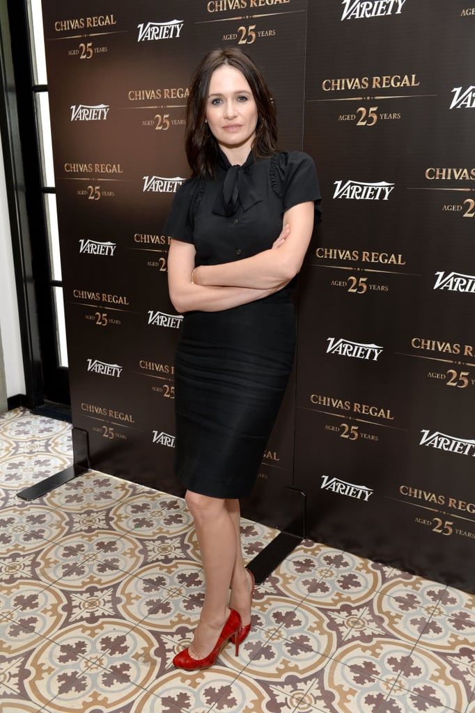 Emily Mortimer struck a pose.