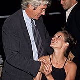 Julia and Richard Gere stole warm glances while at an Amnesty International event in 1998.