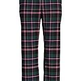 1901 Plaid Straight Leg Crop Pants