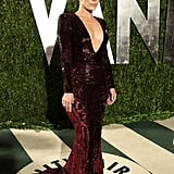 Jennifer Lopez Bares Cleavage and Brings Casper Along For VF Bash