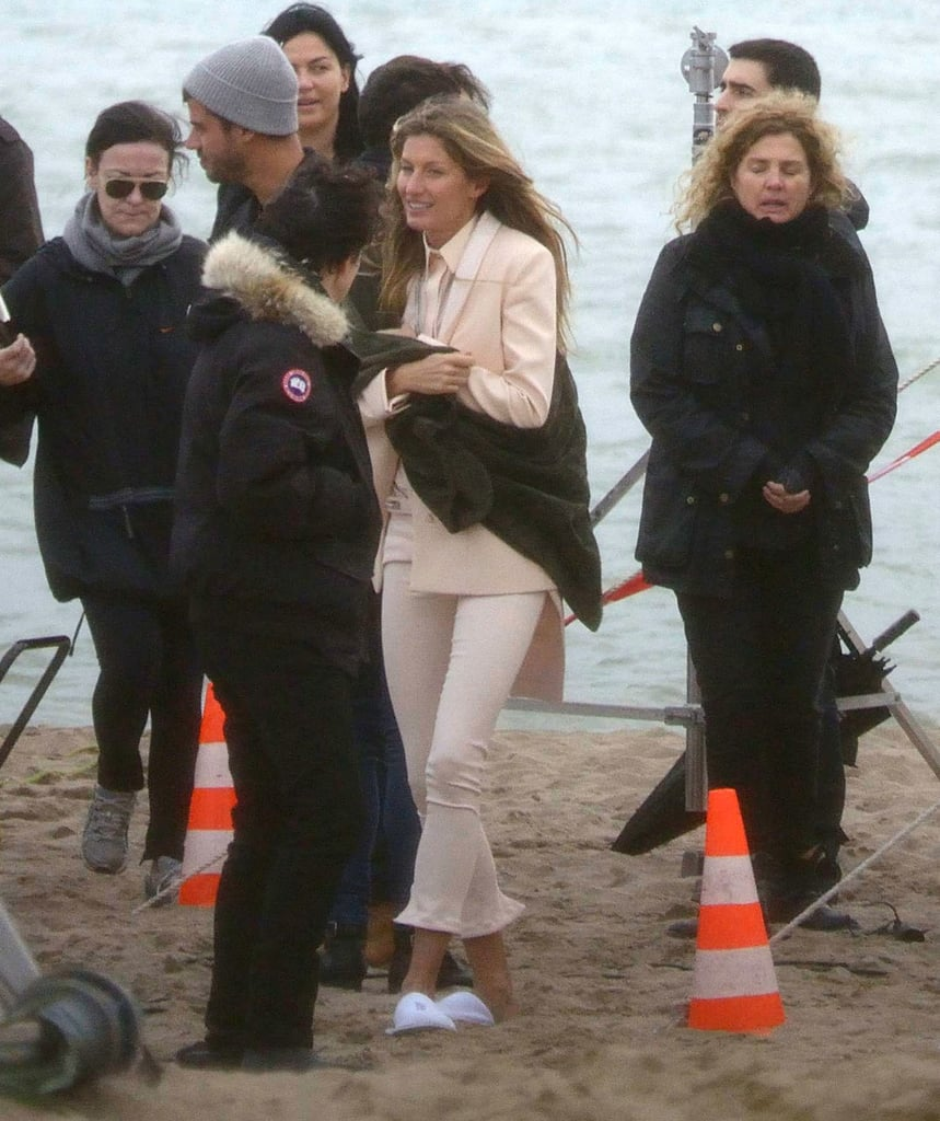 Gisele Bundchen on location for a photoshoot in Brazil.