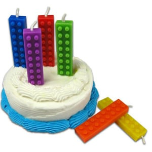 Lego-Shaped Birthday Candles