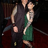 2002: Pink and Carey Hart hit the red carpet together in these rocker-cool outfits.