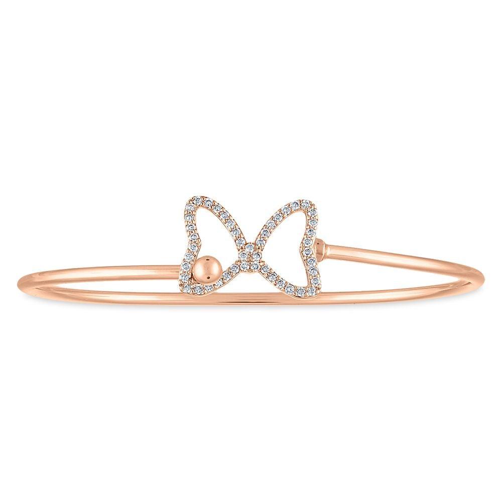 Minnie Mouse Rose Gold Cuff Bracelet