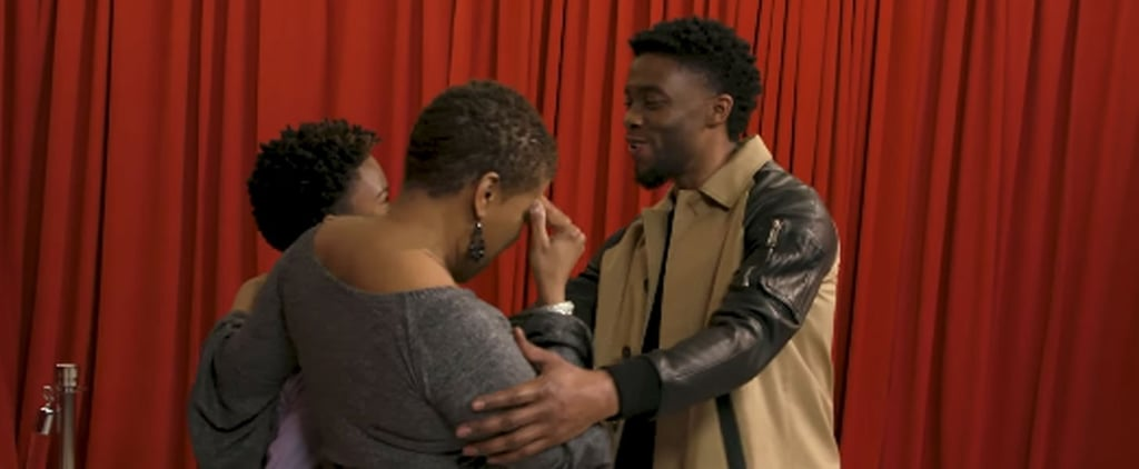 We Could Watch This Video of Chadwick Boseman Surprising Black Panther Fans All Day