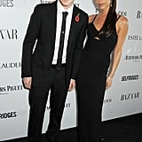 Victoria Beckham walked the red carpet with her son Brooklyn at the Harper's Bazaar Women of the Year Awards in London on Tuesday.