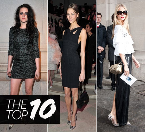 Pictures of This Week's Top Ten Best Dressed Celebrities 11th March 2012 Karlie Kloss, Kristen Stewart, Poppy Delevingne & More