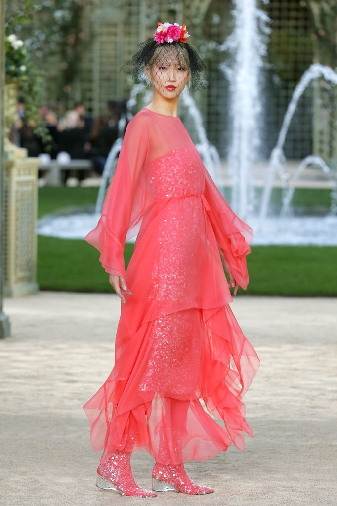 Bright Pops of Color Like Coral and Cobalt Came in the Form of Wispy Dresses