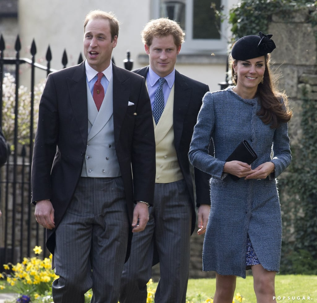 Kate Middleton Grey Coat at Wedding Princes William & Harry