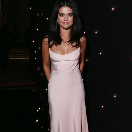 Selena Gomez Wears Pink Slip Dress at Hollywood Film Awards
