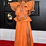 Chrissy Teigen's Wears Yanina Couture at 2020 Grammy Awards