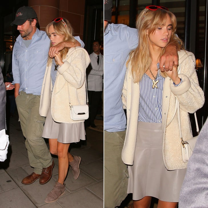 Suki Waterhouse and Bradley Cooper Date-Night Outfit