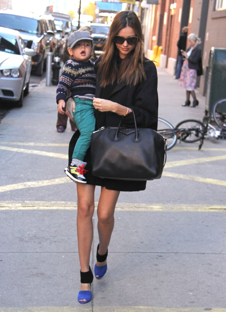 Miranda Kerr stepped out in NYC with her son, Flynn.