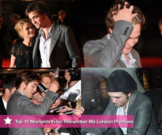 Photos of PopSugarUK's Favourite 10 Moments From Robert Pattinson's Remember Me Premiere in London