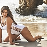 Ashley Graham in the Boss White Underwire Swimsuit