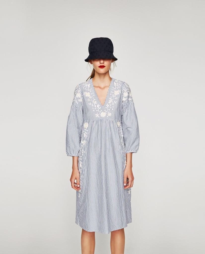 Zara V-Neck Midi Dress