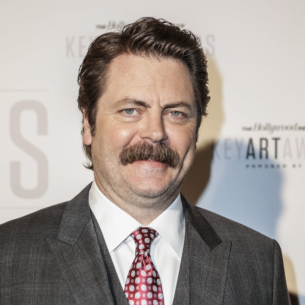 Nick Offerman Without His Mustache Popsugar Celebrity