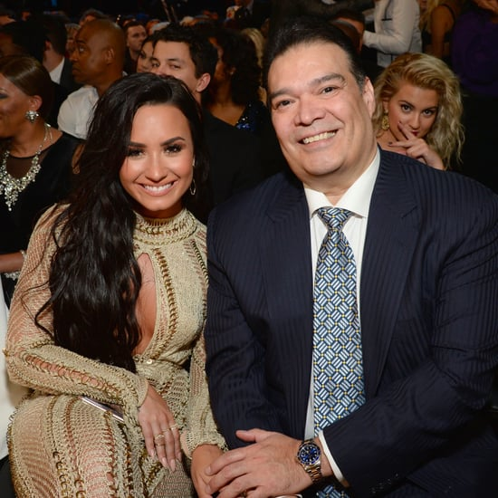 Demi Lovato and Her Dad at 2017 Grammys