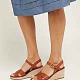 A.P.C Judith Leather and Suede Wedge Sandals