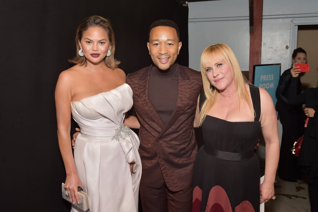 Pictured: Chrissy Teigen, John Legend, and Patricia Arquette