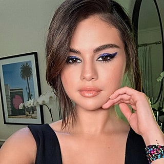 Selena Gomez's Purple Eye Shadow April 2019
