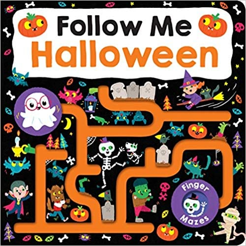 For Ages 0 to 2: Maze Book: Follow Me Halloween
