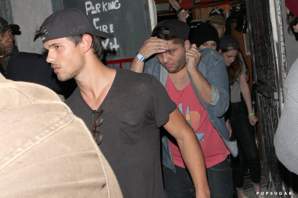 Kristen Stewart and Taylor Lautner Catch a Concert Sans Robert Pattinson