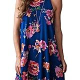 Mitilly Halter Neck Boho Floral Print Dress