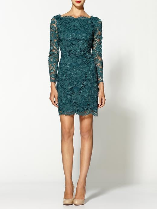The rich emerald hue on this Madison Marcus Elegance Lace Dress ($328) is holiday-party perfect, but also sweet for styling up with a cozy cardigan and tights if you want to pare it down just a bit.