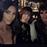 Kim, M.J., and Kris Jenner All Wore Black