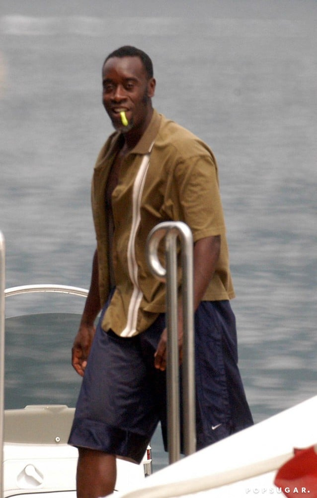 In July 2004, Don Cheadle went for a Lake Como boat ride with good friend George Clooney.
