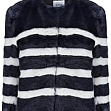 A chic furry coat is a Fashion Week essential, and this striped Ainea jacket ($555) is exactly what I plan to wear to beat the chill. — HM