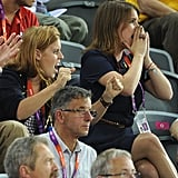 On day six, sisters Princesses Beatrice and Eugenie rooted for Team GB at the track cycling race.