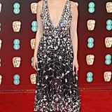 Emma Wearing the Chanel Dress and Pants Combo at the BAFTAs