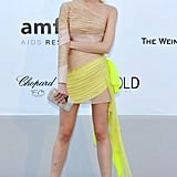 Dree Hemingway is clearly loving her nude and yellow Valentino getup. I would too!