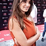 Penelope Cruz wowed in a bright red dress.