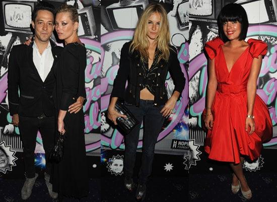 19/6/2009 Kate Moss, Sienna Miller, Lily Allen at Hoping's Got Talent Karaoke
