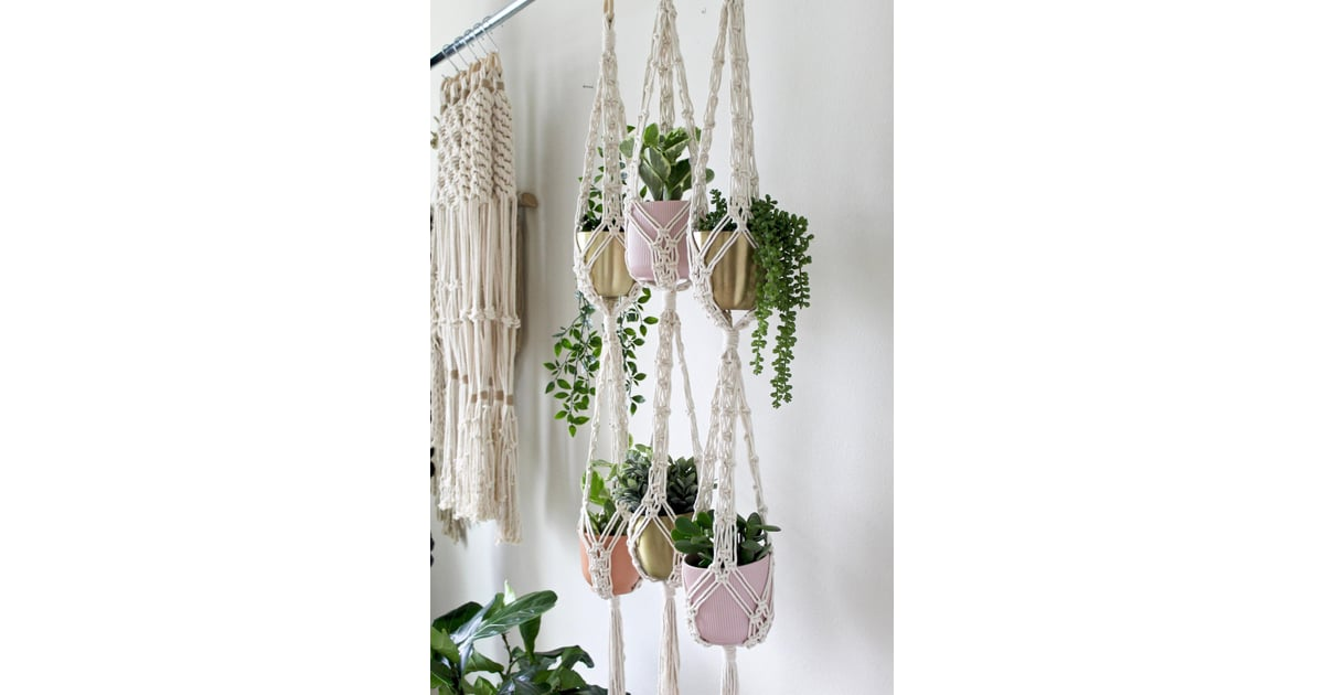 Double Macrame Plant Hanger With Up To 70 Off These Cyber Monday Deals On Etsy Are Too Good To Pass Up Popsugar Smart Living Photo 19