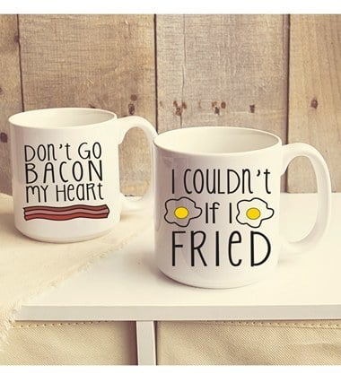 Cathy's Concepts Bacon and Eggs Ceramic Mugs (Set of 2) ($49)