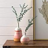 Stone & Beam Modern Round Ceramic Home Decor Flower Vase