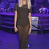 For the the Naked Heart Foundation's Fabulous Fund Fair, Hailey Baldwin slipped on a dress covered in the Fendi logo.