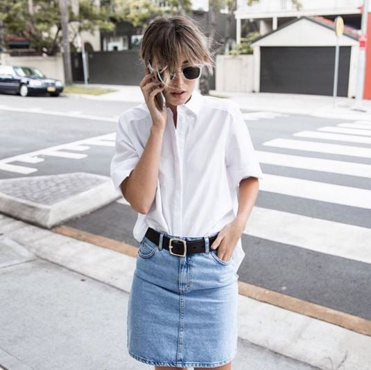 Different Ways to Style a Denim Skirt