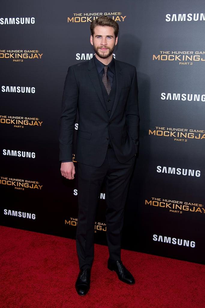 Liam Hemsworth Wearing a Panda Onesie