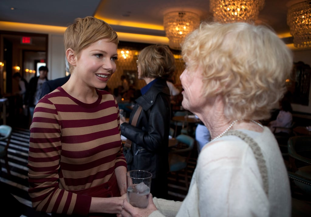 Michelle Williams at lunch for My Week With Marilyn.
