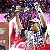Tom got the Super Bowl MVP trophy.